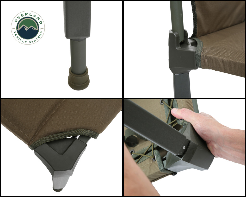 Wild Land Camping Gear - Chair With Storage Bag. 4 panel Assembly Overview