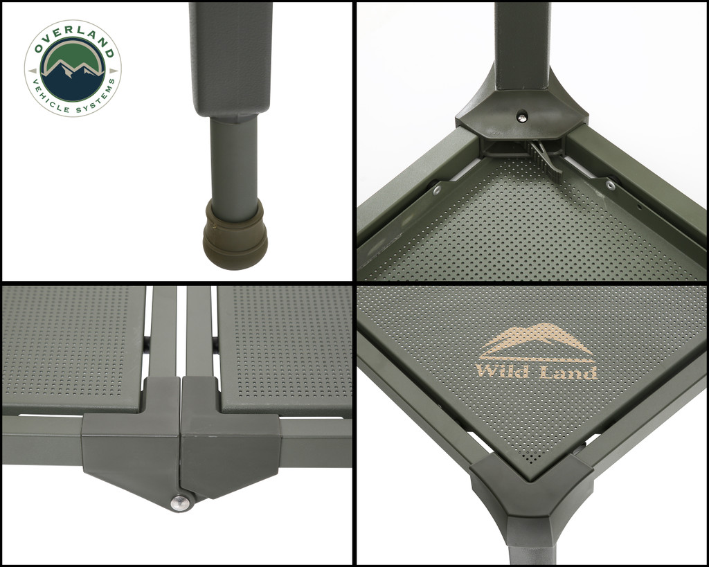 Wild Land Camping Gear - Table Size Large. 4 Panel Overview, Legs, Latch, Hinges.