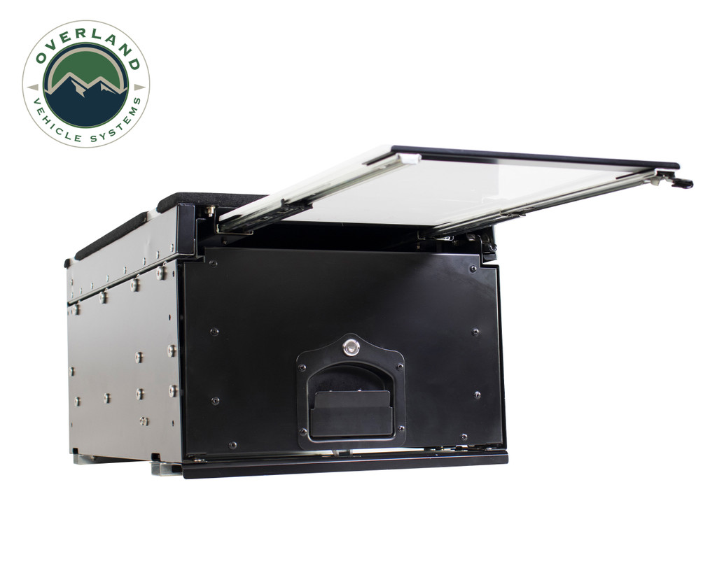 Cargo Box With Slide Out Drawer & Working Station - Retractable Work Station View 1