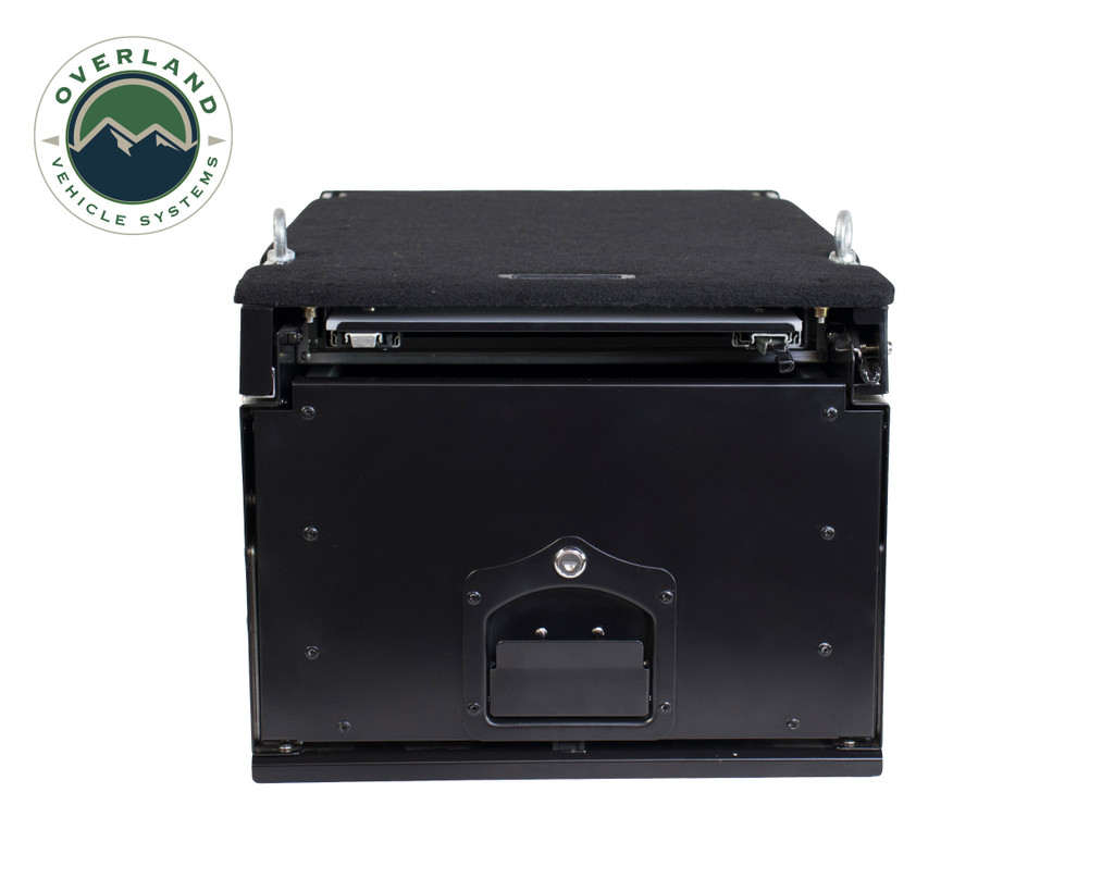 Cargo Box With Slide Out Drawer & Working Station - Front View