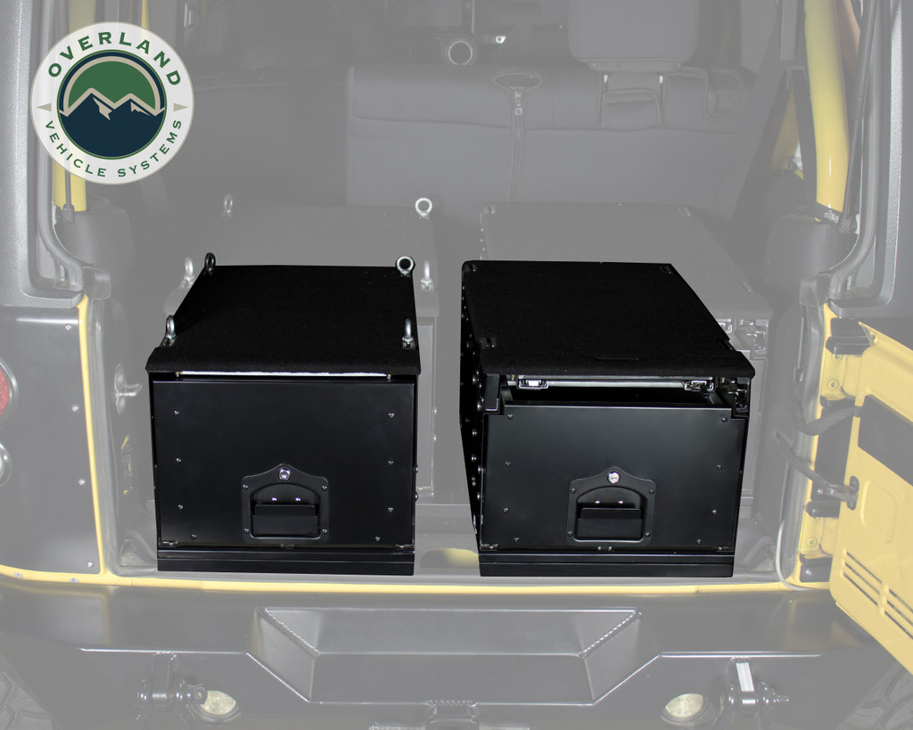 Cargo Box With Slide Out Drawer & Working Station - Double Cargo Box View
