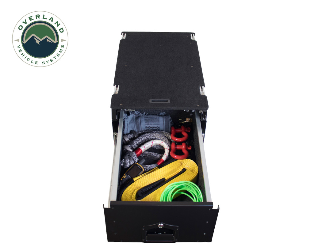 Cargo Box With Slide Out Drawer & Working Station - Extended Drawer (Full) view