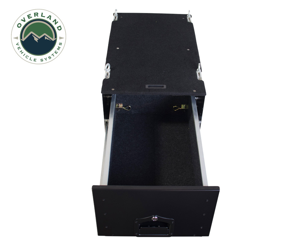 Cargo Box With Slide Out Drawer & Working Station - Open Drawer (Empty) View