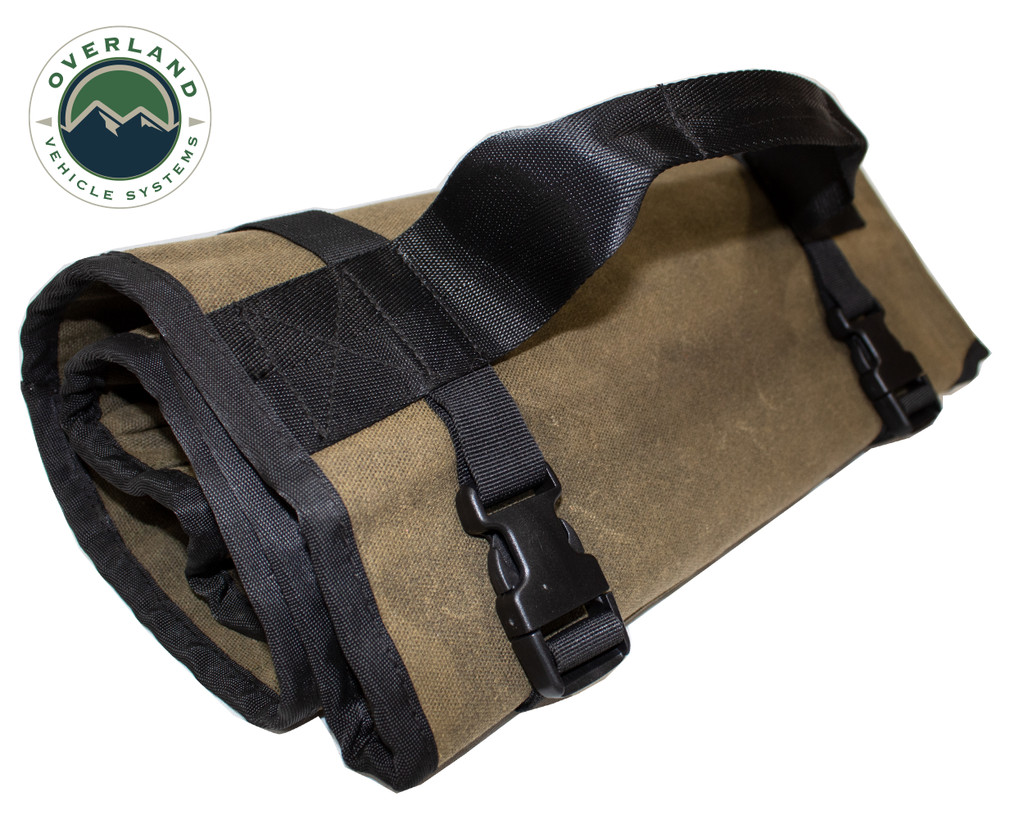 Rolled Bag General Tools With Handle And Straps - #16 Waxed Canvas Universal