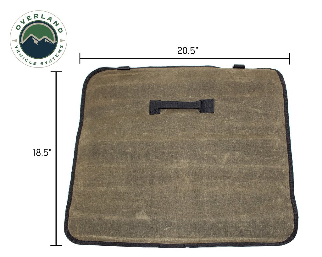 Rolled Bag Socket With Handle And Straps - #16 Waxed Canvas Universal
