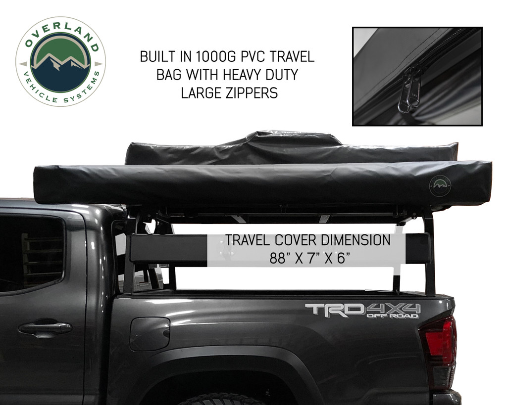 Nomadic Awning 2.5 - 8.0' With Black Cover Universal