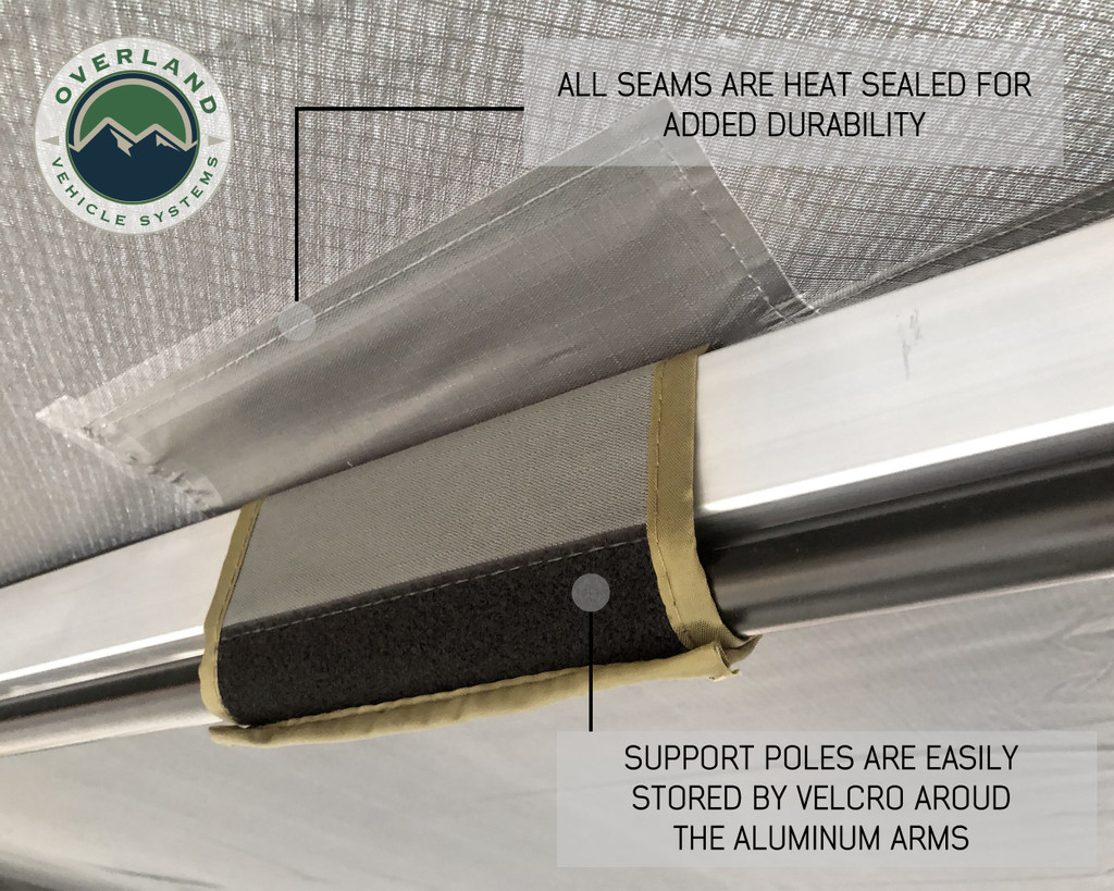 270 awning poles secure against rafters