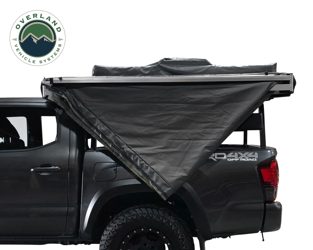 OVS Nomadic Awning 270 Driver Side Dark Gray Cover With Black Cover Universal