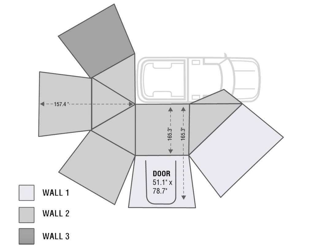 Nomadic 270 Passenger Side Awning Wall 1