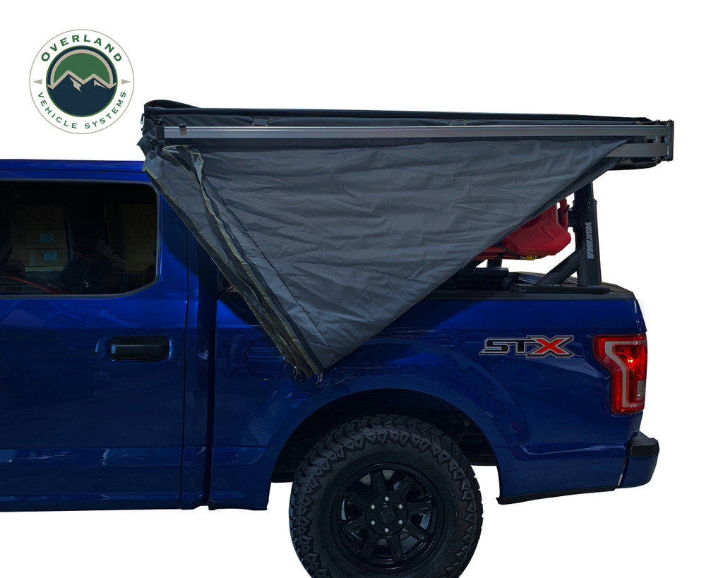 Nomadic 270 LT Awning - Driver Side 19559907- Dark Gray Cover With Black Cover Universal