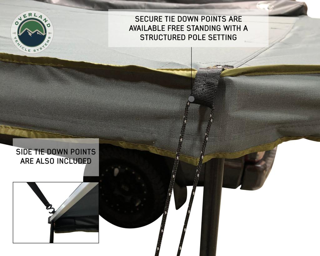 Nomadic 270 LT Awning - Passenger Side 19569907- Dark Gray Cover With Black Cover Universal