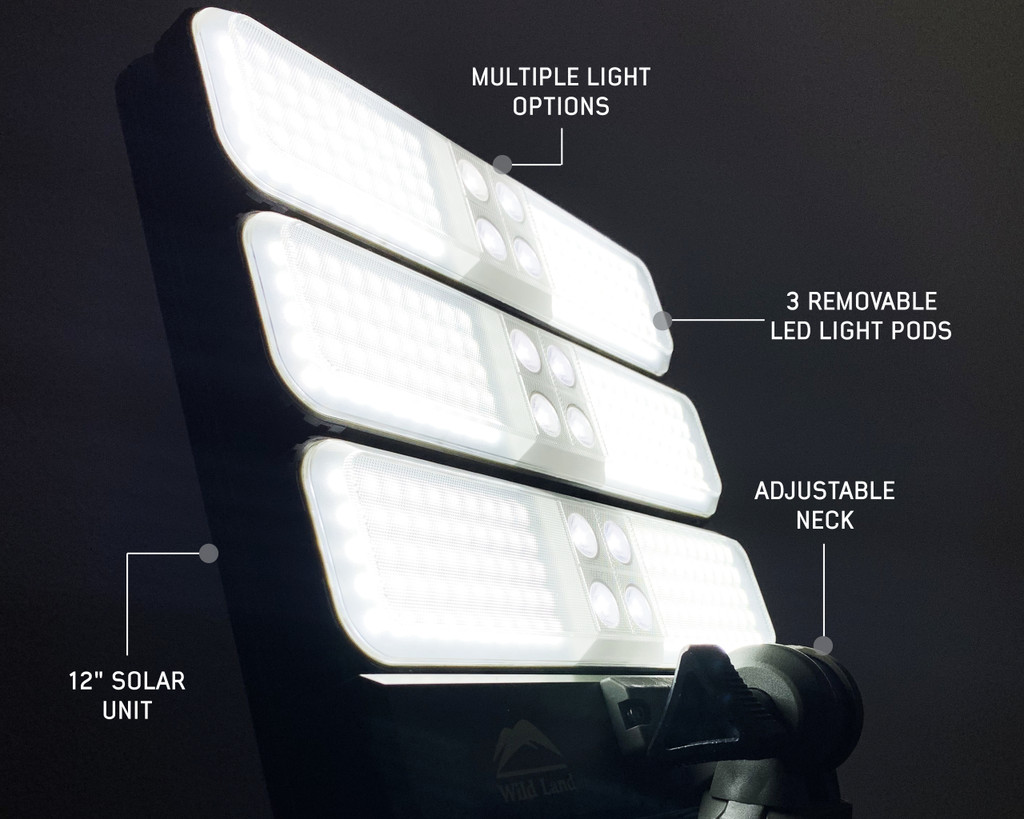 Wild Land Camping Gear - Encounter Solar Light Light Pods.  ENCOUNTER Night time Lighting Closeup