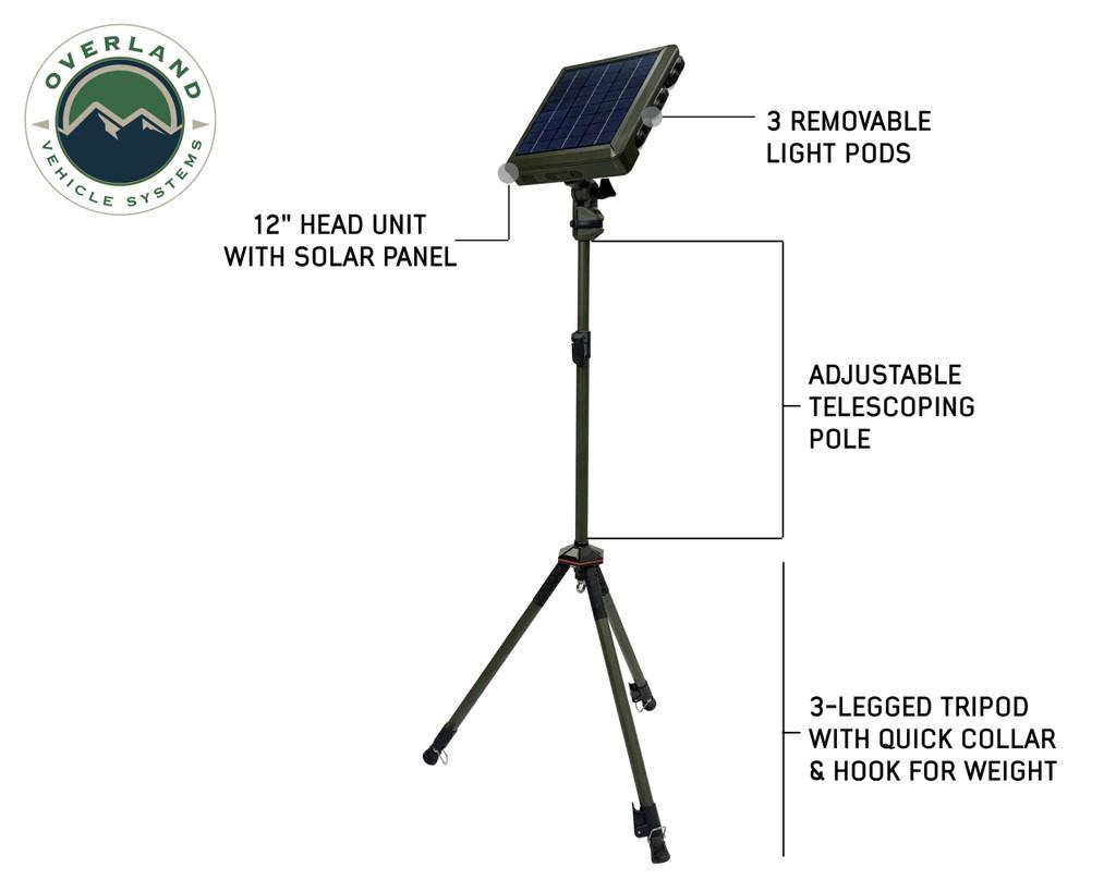 Wild Land Camping Gear-Encounter Solar Light Light Pods . Full Extended Encounter Camping Light