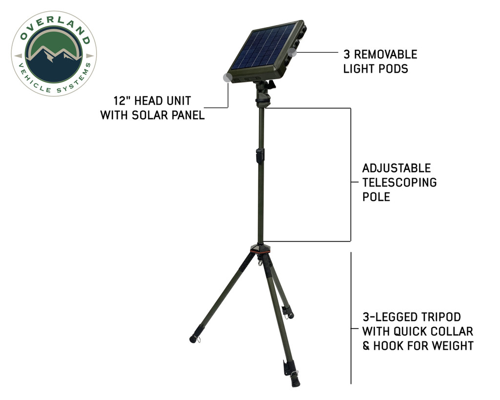 Wild Land Camping Gear-Encounter Solar Light Light Pods . Full Extended Encounter Camping Light