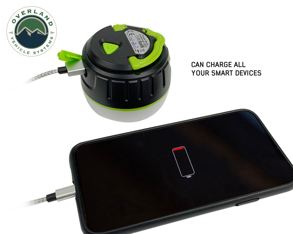 15049918 portable camp light- The portable light can be used as a powerbank