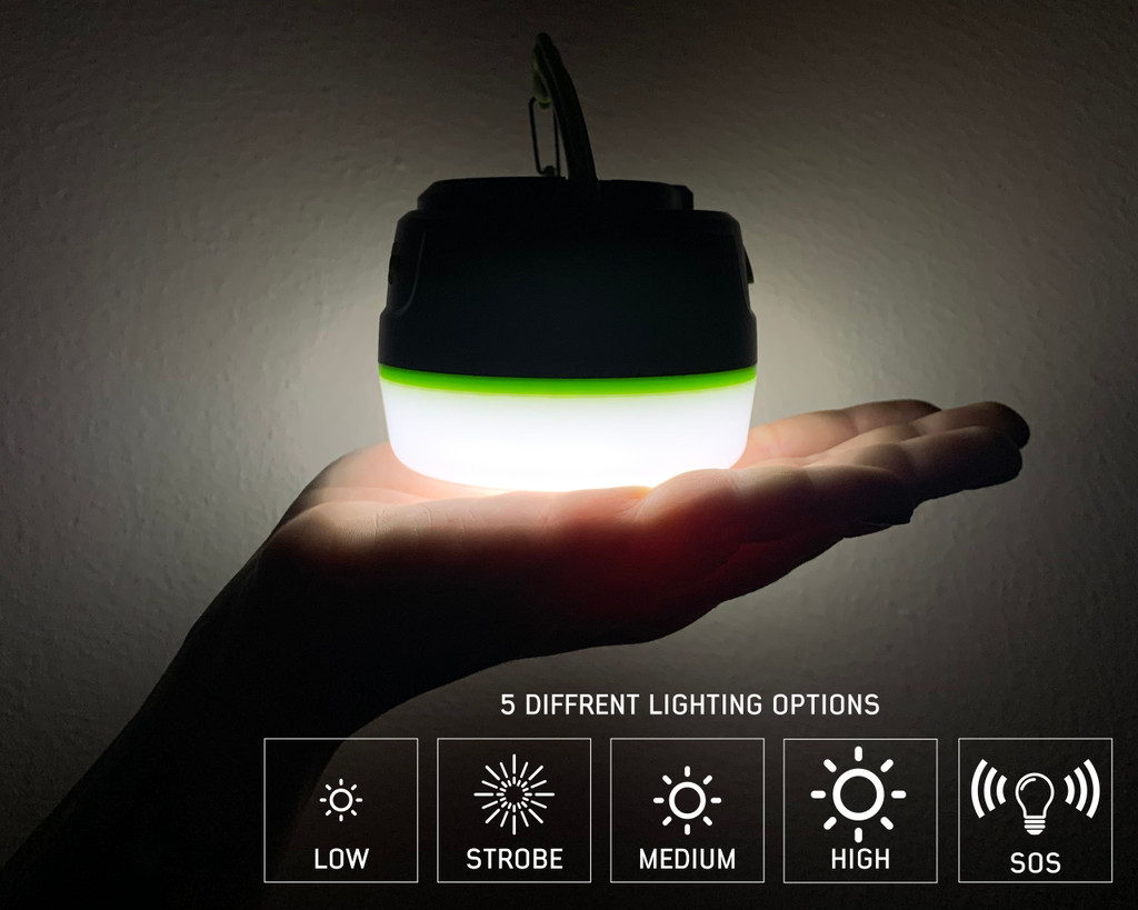15049918 portable camp light- The different light modes for the light.