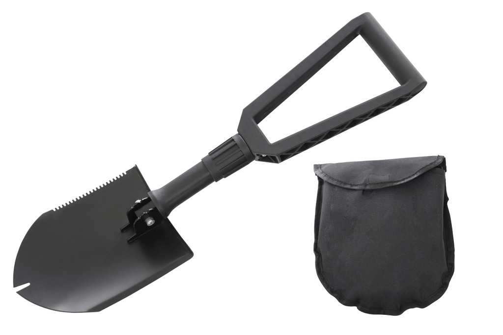 Combo Pack Recovery Ramp & Utility Shovel- Utility shovel and Pouch in full display.
