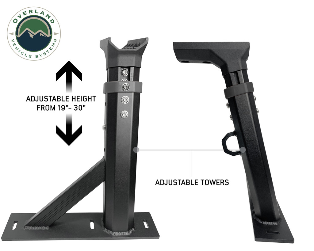 Freedom Bed Rack Detailed side views of the fully adjustable towers
