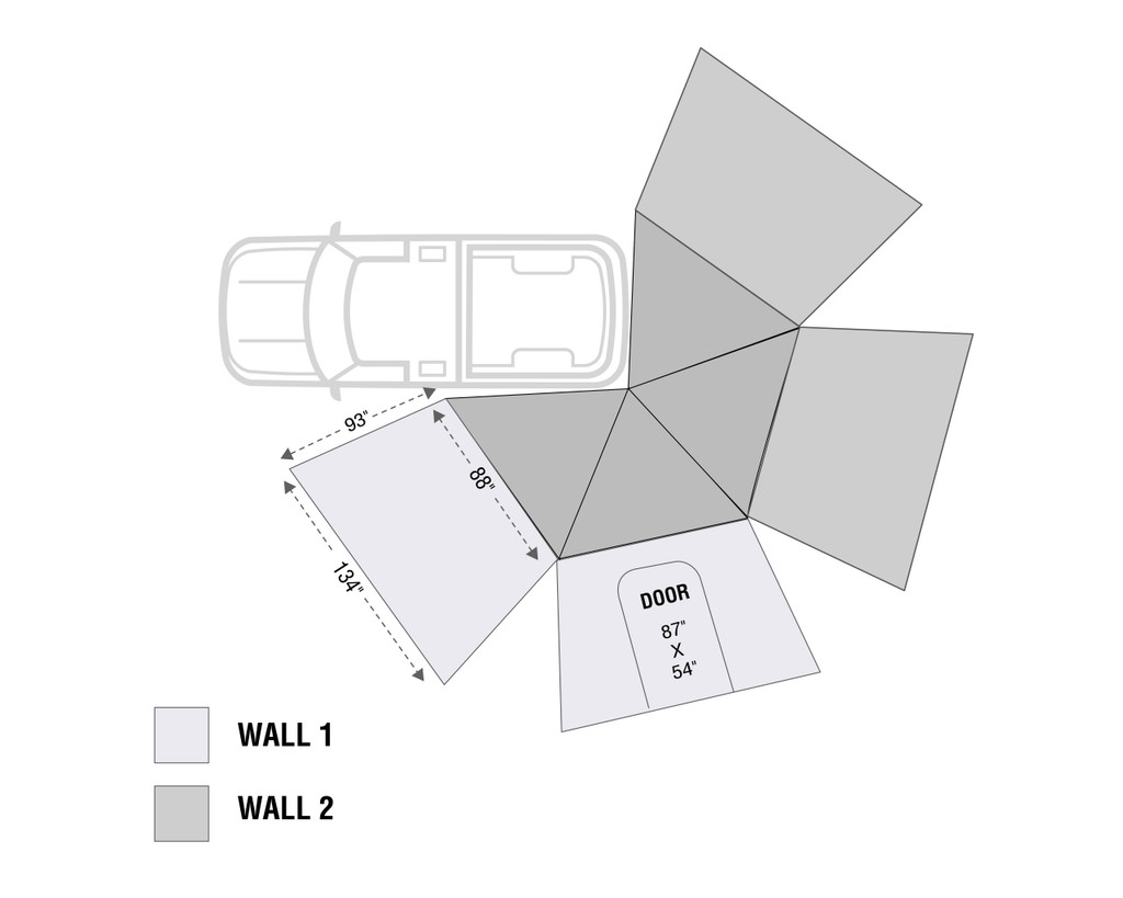 Nomadic 270 LT Awning Wall 1 Driver Side 18299909