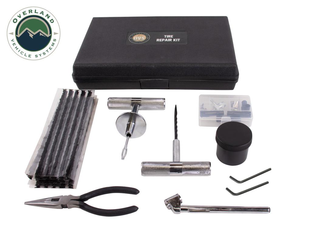 Digital Tire Deflator, Digital Tire Gauge, and 53 Tire Repair Kit Combo Kit
