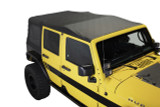 14010635 King 4WD Premium Replacement Soft Top, Black Diamond With Tinted Windows, Jeep Wrangler Unlimited JK 4 Door 2010-2018. Soft Top Top View.