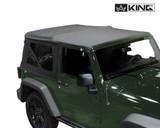 14010335 King 4WD Premium Replacement Soft Top, Black Diamond With Tinted Windows, Jeep Wrangler JK 2 Door 2007-2009