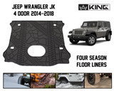 28020301 King 4WD Premium Four-Season Cargo Liner With Sub Woofer Cut Out Jeep Wrangler Unlimited JK 4 Door 2014-2018.