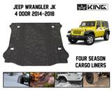 28020501 King 4WD Premium Four-Season Cargo Liner Jeep Wrangler Unlimited JK 4 Door 2014-2018.