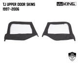 14019935 King 4WD Premium Upper Door Skins Black Diamond Passenger & Driver Side Jeep Wrangler TJ 1997-2006. TJ Upper Door Skins 1997 - 2006