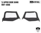 14019935 King 4WD Premium Upper Door Skins Black Diamond Passenger & Driver Side Jeep Wrangler TJ 1997-2006. TJ Upper Door Skins 1997 - 2006