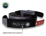 """Tow Strap 30,000 lb. 3"""" x 30' Gray With Black Ends & Storage Bag"""