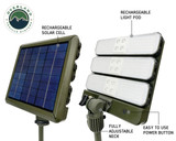 "Wild Land Camping Gear- 12"" Rechargeable Solar Cell  and Removable LED Light pod"