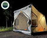 Quick Deploying Gray Ground Tent-3 Quarter Side view