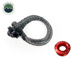 """Combo Pack Soft Shackle 7/16"""" 41,000 lb. With Collar and Recovery Ring 2.5"""" 10,000 lb. Red"""