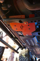 (JEEP® JL ARB® SKID PLATE MOUNTING INSTALL KIT) (22-1819). Undercarriage View.