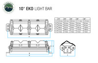 """5010101 Overland Vehicle Systems EKO 10"""" LED Light Bar With Variable Beam, DRL,RGB, 6 Brightness..  Available In Five Different Sizes."""