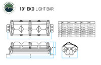 """15010201 Overland Vehicle Systems EKO 20"""" LED Light Bar With Variable Beam, DRL,RGB, 6 Brightness. Daytime Running Light with Spot and Flood Option, High to Low Beam Button, 6-Way Adjustable beam from flood to spot, RGB Running Light with 8 Color Options. Infinite lighting Possibilities. RGB Colors in Sequence: Green, Blue, Yellow, Purple, Teal, Opal & Red."""