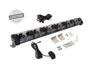 """15010301 Overland Vehicle Systems EKO 30"""" LED Light Bar With Variable Beam, DRL,RGB, 6 Brightness. IP 68 rated, 124 Watts 28 Osram High Intensity LED's with Olson Chip and RGB technology. Over 50,000 Continuous hours, Aircraft Grade 6061 Aluminum Body with Heat Dissipating Fins and Lexan Polycarbonate Molded Lens."""