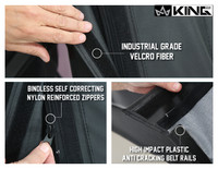 14010235 King 4WD Premium Replacement Soft Top Without Upper Doors, Black Diamond With Tinted Windows, Jeep Wrangler TJ 1997-2006. Industrial Grade Velcro Fiber, Bindless Self-correcting Zippers, High Impact Plastic Cracking Belt Rails.