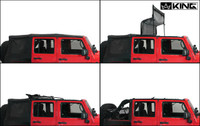 14010435 King 4WD Premium Replacement Soft Top, Black Diamond With Tinted Windows, Jeep Wrangler Unlimited JK 4 Door 2007-2009. 4 Panel Soft Top Assembly.