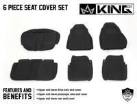 11010601 King 4WD Premium Neoprene Seat Cover Jeep Wrangler TJ 2003-2006. 6 Piece Seat Cover Set Features and Benefits.