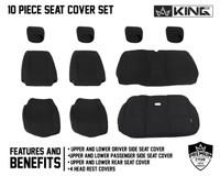 11010101 King 4WD Premium Neoprene Seat Cover Jeep Wrangler JK 2 Door 2013-2018. 10 Piece Set Features and Benefits.