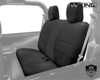 11010101 King 4WD Premium Neoprene Seat Cover Jeep Wrangler JK 2 Door 2013-2018. Rear Seat Cover.