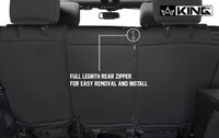 11010201 King 4WD Premium Neoprene Seat Cover Jeep Wrangler Unlimited JK 4 Door 2013-2018. Full Length Rear Zipper for Easy Removal and Install.