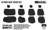 11010401 King 4WD Premium Neoprene Seat Cover Jeep Wrangler Unlimited 4 Door 2008-2012. Full 12 Piece Set.