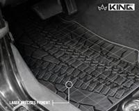 28010201 King 4WD Premium Four-Season Floor Liners Front and Rear Passenger Area Jeep Wrangler JK 2 Door 2007-2013. Laser precise fitment.