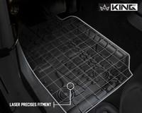28010401 King 4WD Premium Four-Season Floor Liners Front and Rear Passenger Area Jeep Wrangler JK 2 Door 2014-2018. Laser precise fitment.