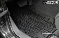 28010301 King 4WD Premium Four-Season Floor Liners Front and Rear Passenger Area Jeep Wrangler Unlimited JK 4 Door 2007-2013. Front driver side liner.