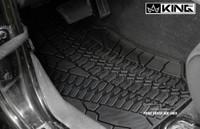 28010301 King 4WD Premium Four-Season Floor Liners Front and Rear Passenger Area Jeep Wrangler Unlimited JK 4 Door 2007-2013. Front driver side liner.
