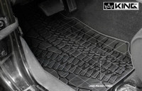 28010301 King 4WD Premium Four-Season Floor Liners Front and Rear Passenger Area Jeep Wrangler Unlimited JK 4 Door 2007-2013. Laser precise fitment.